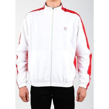 Textiel Heren Trainings jassen K-Swiss Accomplish Jacket 100250-119 white, red