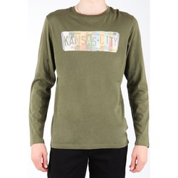 Textiel Heren T-shirts met lange mouwen Lee L848AI olive green