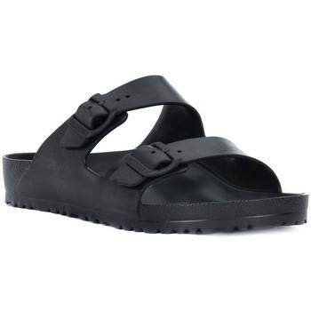 Schoenen Dames Leren slippers Birkenstock ARIZONA EVA BLACK CALZ N Nero