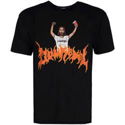 Textiel Heren T-shirts korte mouwen Domrebel  Zwart
