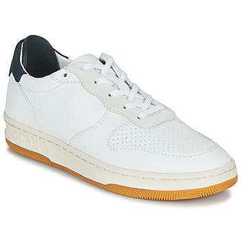 Schoenen Lage sneakers Claé MALONE Wit / Blauw