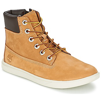 Schoenen Jongens Laarzen Timberland GROVETON 6IN LACE WITH SIDE ZIP Graan