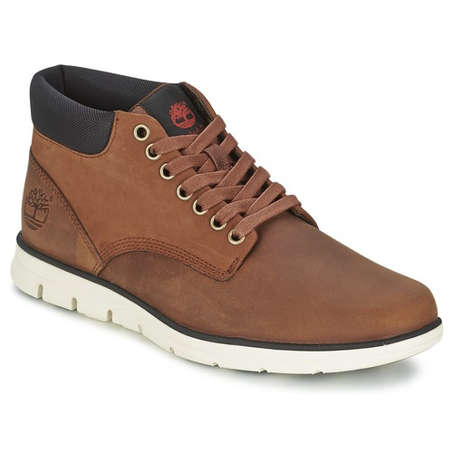 Schoenen Heren Hoge sneakers Timberland BRADSTREET CHUKKA LEATHER Rood / Bruin