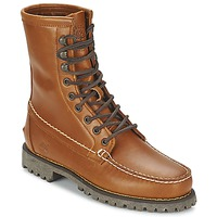 Schoenen Heren Laarzen Timberland AUTHENTICS 8 IN RUGGED HANDSEWN Earth / Terracotta