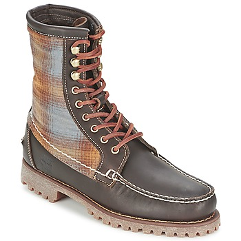 Schoenen Heren Laarzen Timberland AUTHENTICS 8 IN RUGGED HANDSEWN F/L BOOT Bruin / Donker / Vilt