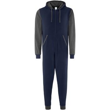 Textiel Pyjama's / nachthemden Comfy Co CC003 Marine/Charcoal