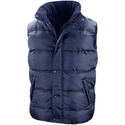 Textiel Heren Dons gevoerde jassen Result R223X Marineblauw