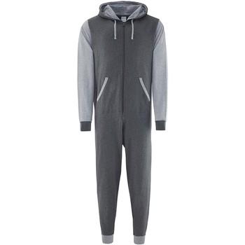 Textiel Jumpsuites / Tuinbroeken Comfy Co CC003 Houtskool/Heather Grey