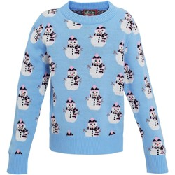 Textiel Meisjes Sweaters / Sweatshirts Christmas Shop CS027 Lichtblauw