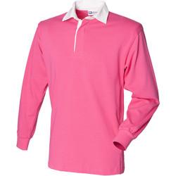 Textiel Kinderen Polo's lange mouwen Front Row FR109 Helder Roze