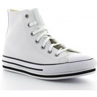 Schoenen Meisjes Hoge sneakers Converse CTAS PLATFORM EVA HI 666392C blanco blanc