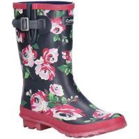 Schoenen Dames Regenlaarzen Cotswold  Zwart/Bloem
