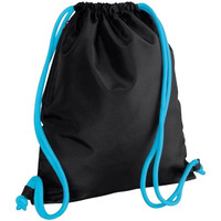 Tassen Kinderen Sporttas Bagbase BG110 Zwart/Surfblauw