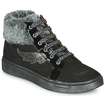 Schoenen Meisjes Hoge sneakers GBB NUMA Zwart
