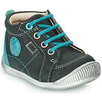 Schoenen Jongens Laarzen GBB OLAN Zwart / Blauw