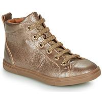 Schoenen Meisjes Hoge sneakers GBB INNA Goud
