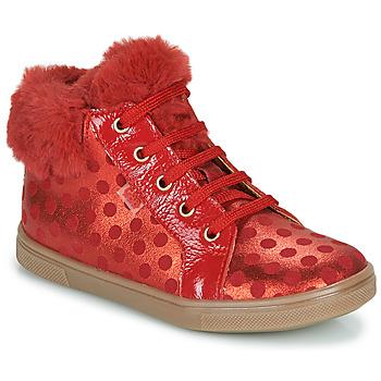 Schoenen Meisjes Hoge sneakers GBB JUNA Rood