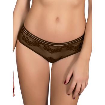 Ondergoed Dames Boxers Luna Shorty Gothic Chocolade/oranjeanje