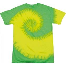 Textiel Dames T-shirts korte mouwen Colortone Rainbow Fluorescerend geel/kalk