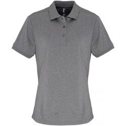 Textiel Dames Polo's korte mouwen Premier PR616 Grijze Melange