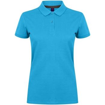 Textiel Dames Polo's korte mouwen Henbury HB102 Saffierblauw