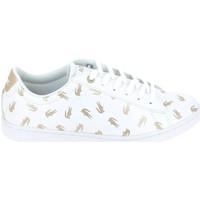 Schoenen Kinderen Lage sneakers Lacoste Carnaby Evo C Blanc Or Wit