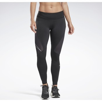 Textiel Dames Leggings Reebok Sport One Series Running Logo Reflecterende Legging Noir