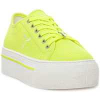 Schoenen Dames Lage sneakers Windsor Smith RUBY CANVAS NEON YELLOW Giallo