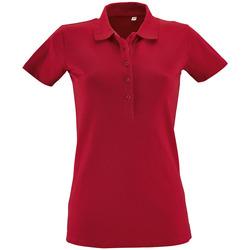 Textiel Dames Polo's korte mouwen Sols PHOENIX WOMEN SPORT Rojo