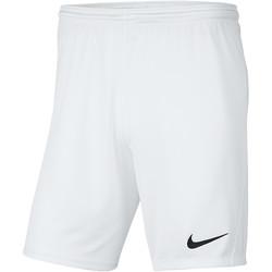 Textiel Heren Korte broeken / Bermuda's Nike Park III Knit Short NB Weiss
