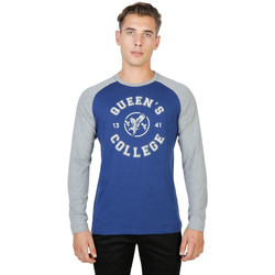 Textiel Heren T-shirts met lange mouwen Oxford University - queens-raglan-ml Blauw