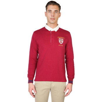 Textiel Heren Polo's lange mouwen Oxford University - queens-polo-ml Rood