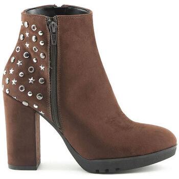 Schoenen Dames Enkellaarzen Made In Italia - dora Bruin