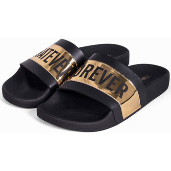 Schoenen Heren slippers Thewhitebrand Whatever gold Zwart