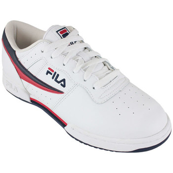 Schoenen Lage sneakers Fila original fitness white/navy/red Wit