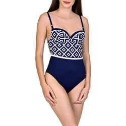 Textiel Dames Badpak Lisca 1-delig voorgevormd zwempak Costa Rica blauw Blauw