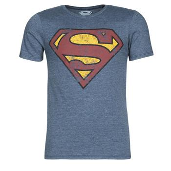 Textiel Heren T-shirts korte mouwen Yurban SUPERMAN LOGO VINTAGE Marine