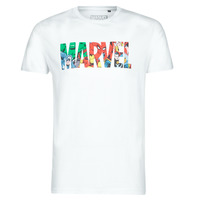 Textiel Heren T-shirts korte mouwen Casual Attitude MARVEL HERO LOGO Wit