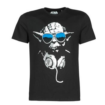 Textiel Heren T-shirts korte mouwen Casual Attitude DJ YODA COOL Zwart