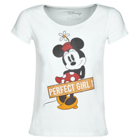 Textiel Dames T-shirts korte mouwen Yurban MINNIE PERFECT GIRL Wit