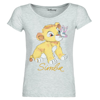 Textiel Dames T-shirts korte mouwen Yurban THE LION KING Grijs