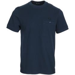 Textiel Heren T-shirts korte mouwen Fred Perry Pocket Detail Pique Shirt Blauw