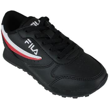 Schoenen Lage sneakers Fila orbit low kids black Zwart