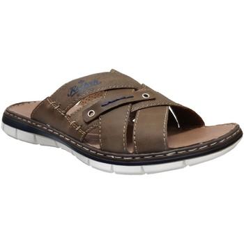 Schoenen Heren Leren slippers Rieker 25199 Bruin