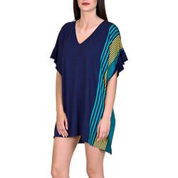 Textiel Dames Tunieken Lisca Strand caftan Dominica blauw Blauw