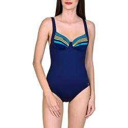 Textiel Dames Badpak Lisca 1-delig beugelbadpak Dominica Blauw