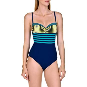 Textiel Dames Badpak Lisca Dominica  1-delig voorgevormd zwempak Blauw