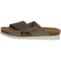 Schoenen Dames Leren slippers Riposella C78 Brown Taupe