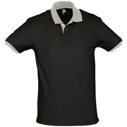 Textiel Polo's korte mouwen Sols PRINCE COLORS Negro
