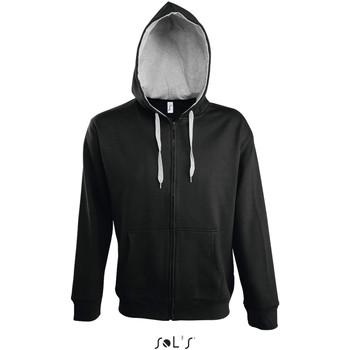 Textiel Heren Trainings jassen Sol's Veste zippé à capuche  Soul noir